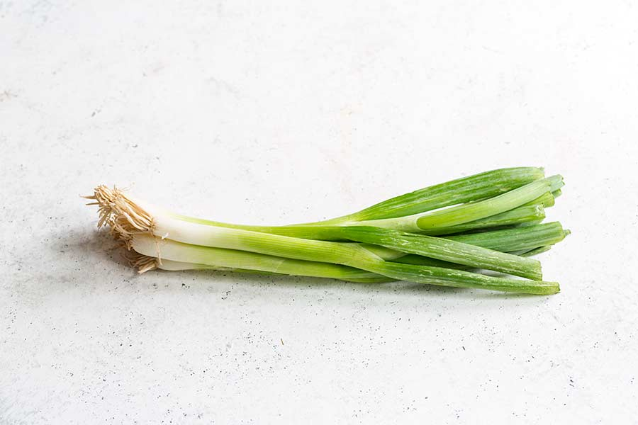 one bunch of scallions/green onions