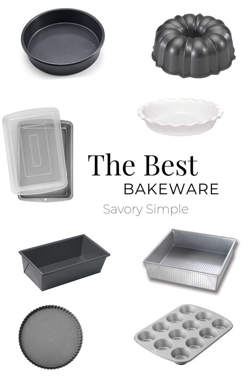 A collage of the best bakeware for home cooks