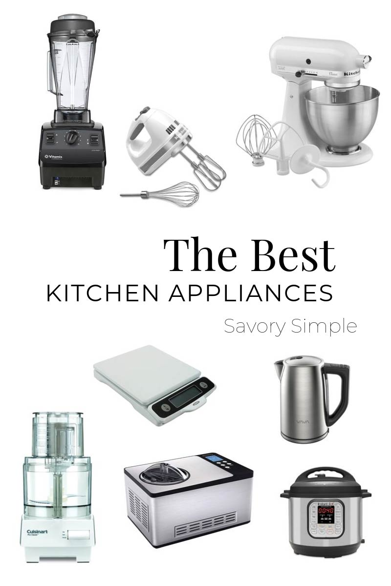 A photo collage with several of the best small kitchen appliances for home cooks