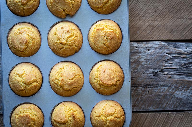 Corn muffins right out of the oven