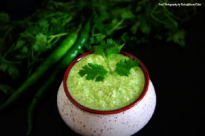 Green Coconut Coriander Chutney