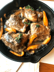 Skillet Baked Chicken Thighs With Homemade Mushroom Sauce – easy, scrumptious, delicious chicken recipe that's ready in 30 minutes or less with little to no effort. Savory Thoughts | #vegetables #chicken # SkilletBakedChickenThighsWithHomemadeMushroomSauce #homemade #skilletdish