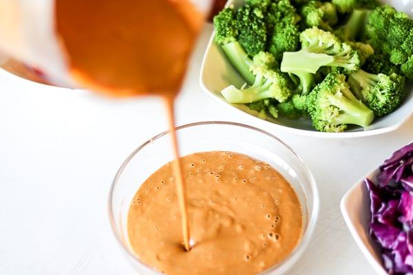 Asian Noodle Salad With Creamy Peanut Sauce