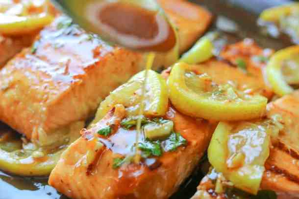 honey garlic salmon savory thoughts