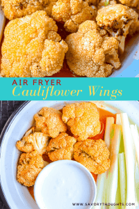 Air Fryer Buffalo Cauliflower Wings are quick and easy. These buffalo cauliflower bites appetizer can be served throughout the year. They taste wonderful and are a great way to sneak in some veggies while enjoying the flavors you love. Cauliflower wings are Keto, Gluten-Free, Paleo-friendly, Low Carb, and satisfy the Whole30 diet.