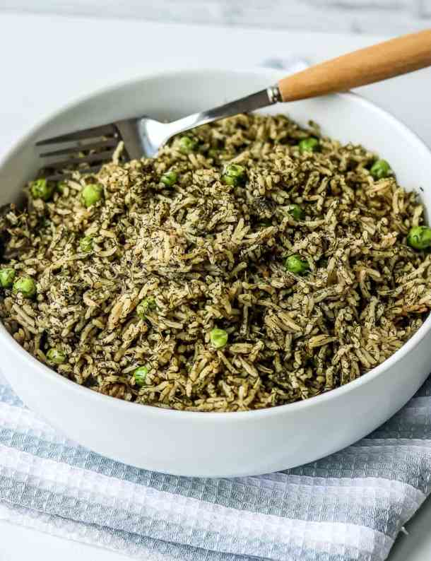 Dill Rice Recipe – Delicious, bold Persian rice dish that's made with a just a few ingredients. A simple rice recipe that stands alone as part of the main course or sits nicely in the background to be served as a side.