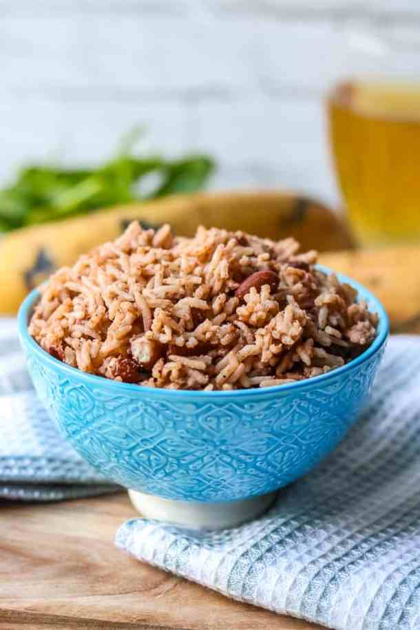 Instant Pot Haitian Rice And Beans - Red beans and rice is a popular dish in Haiti. Traditionally prepared with Haitian Epis (Haitian Seasoning Base), and served throughout the year. The flavors in this Haitian red beans and rice is as bold as any flavors you will find in other Haitian food recipes. This delicious and nourishing dish is an instant pot version. Thanks to pressure cookers, Haitian rice can be made in a matter of minutes!
