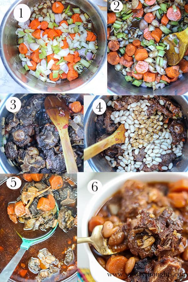 braised oxtail step-by-step photo guide