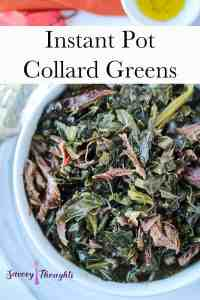 Instant Pot Collard Greens Pinterest Pin