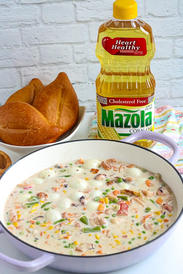 Sipo egg recipe with bread and Mazola Oil. Whether you're a fan of traditional eggs or not, you'll love this bright & creamy, healthy Seafood Sipo eggs with mixed vegetables recipe!