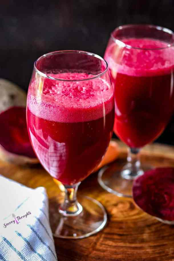 Beet Juice in glasses