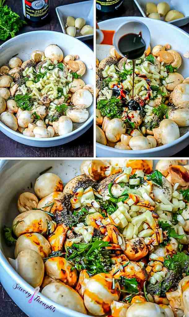 Garlic Mushroom Step by step photo guide