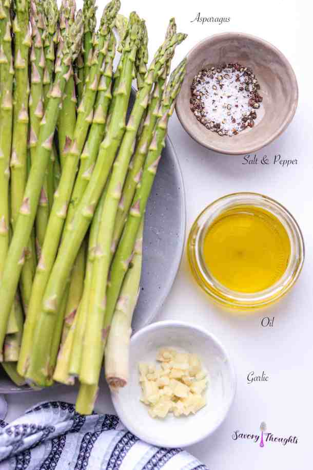 List of ingredients to make asparagus in the air fryer