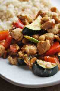Panda Express Kungpao Chicken copycat recipe with rice