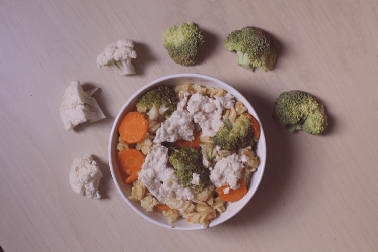 recette one pot pasta brocoli, carotte, chou fleur