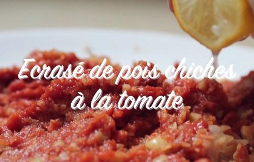 pois chiches à la tomate écrasé