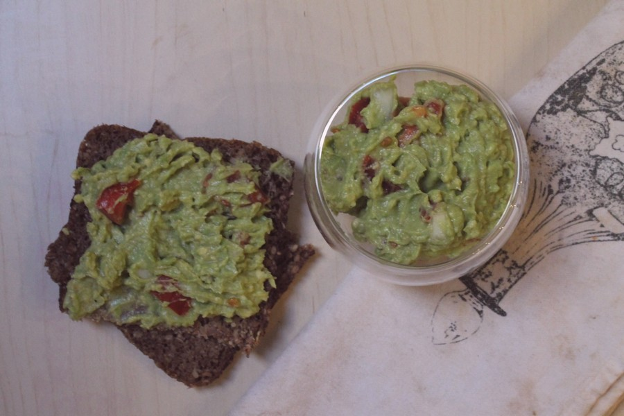 guacamole sur toast vegan rapide facile