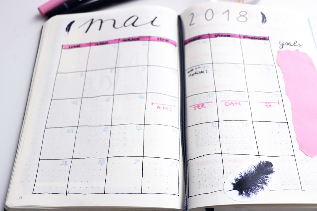 bullet journal monthly may 2018