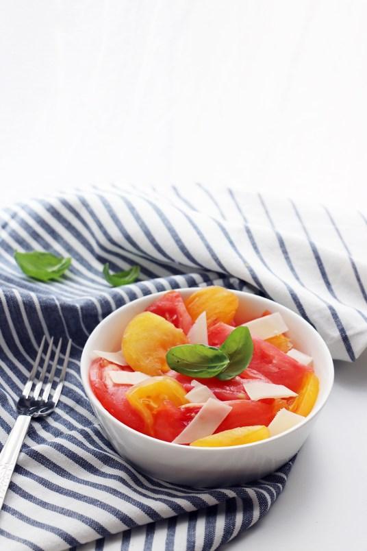 salade de tomates coeur de boeuf