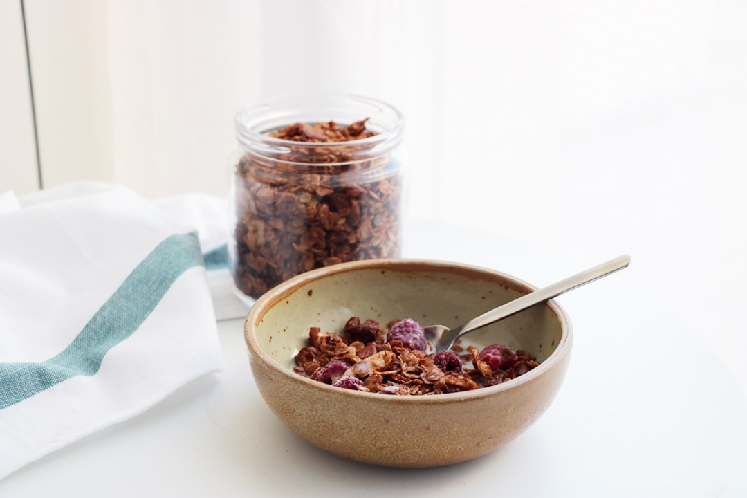 muesli vegan chocolat amande noix de coco