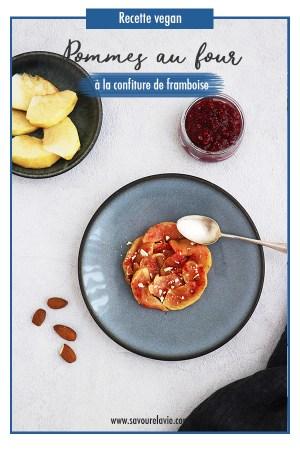 pomme au four vegan confiture framboise pinterest