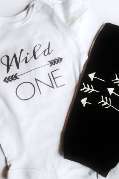 Wild One onesie and leggings DIY