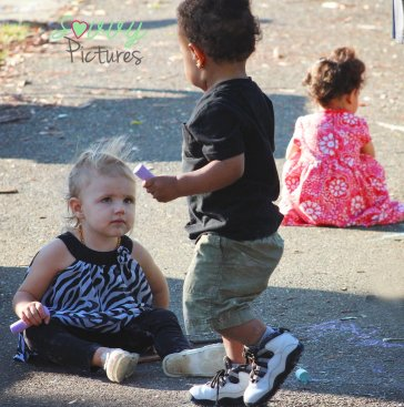 Kids enjoyed playing