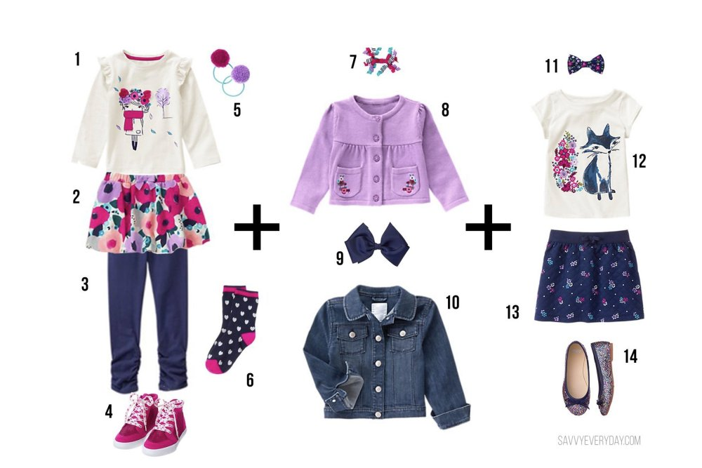 Gymboree girls outfit options