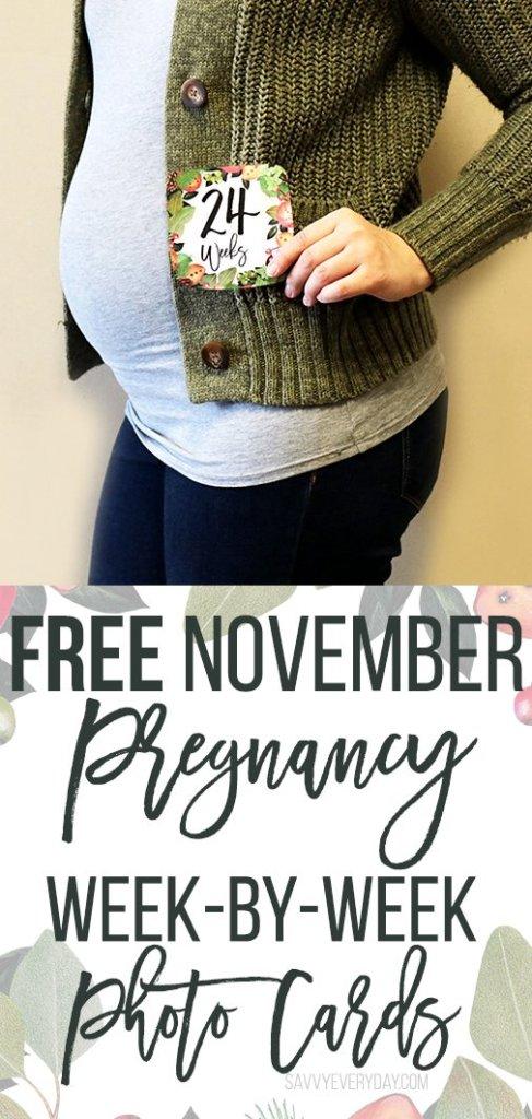 Free November Week-by-Week Pregnancy Photo Cards