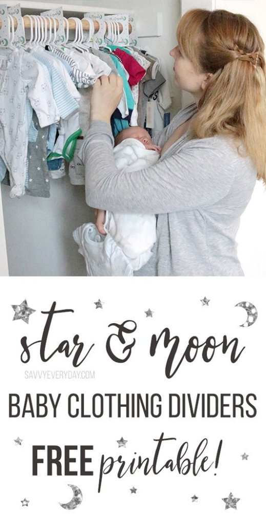 star and moon baby clothing dividers