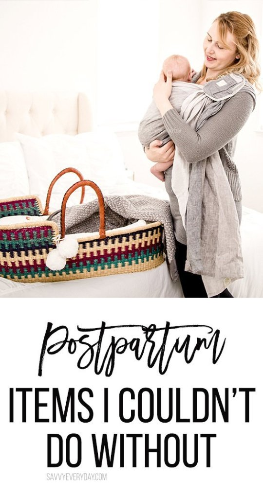 Postpartum Items I Couldn't Do Without