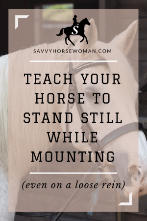 Train your Horse to Stand Still While Mounting | Horse Training Tips | Savvy Horsewoman