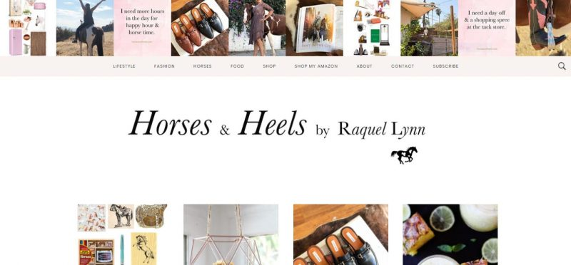 Horses and Heels - Top Equestrian and Horse Blogs to Follow - 2019