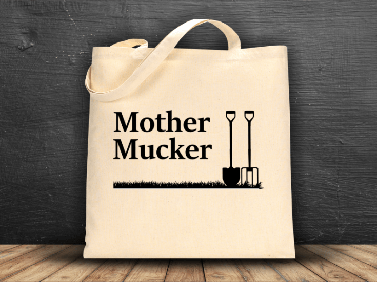 Mother Mucker Horse Tote Bag