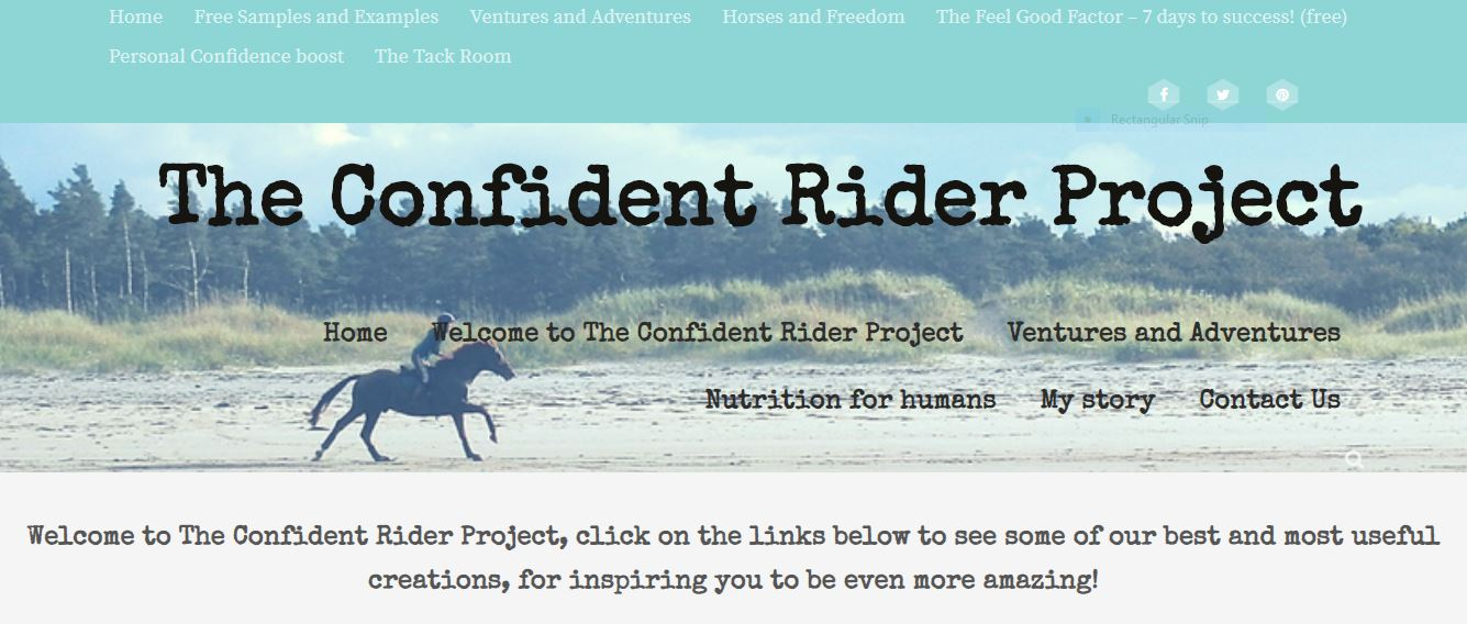 Confident Rider Project Blog