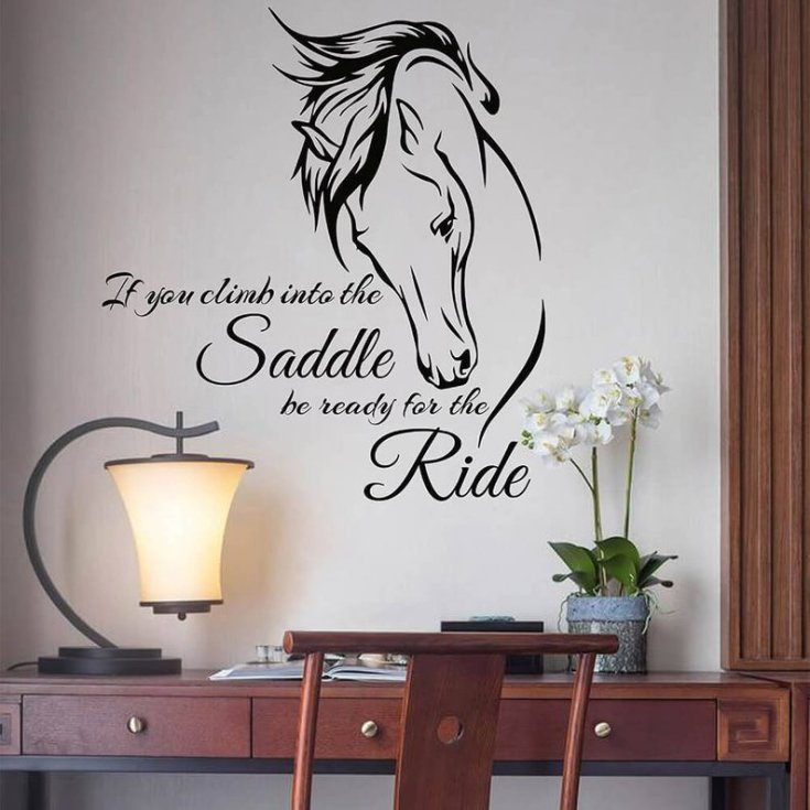 Horse with Wall Quote Decal Vinyl Wall Art Sticker