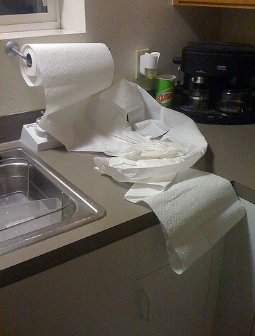 savvyhousekeeping saving money on paper towels