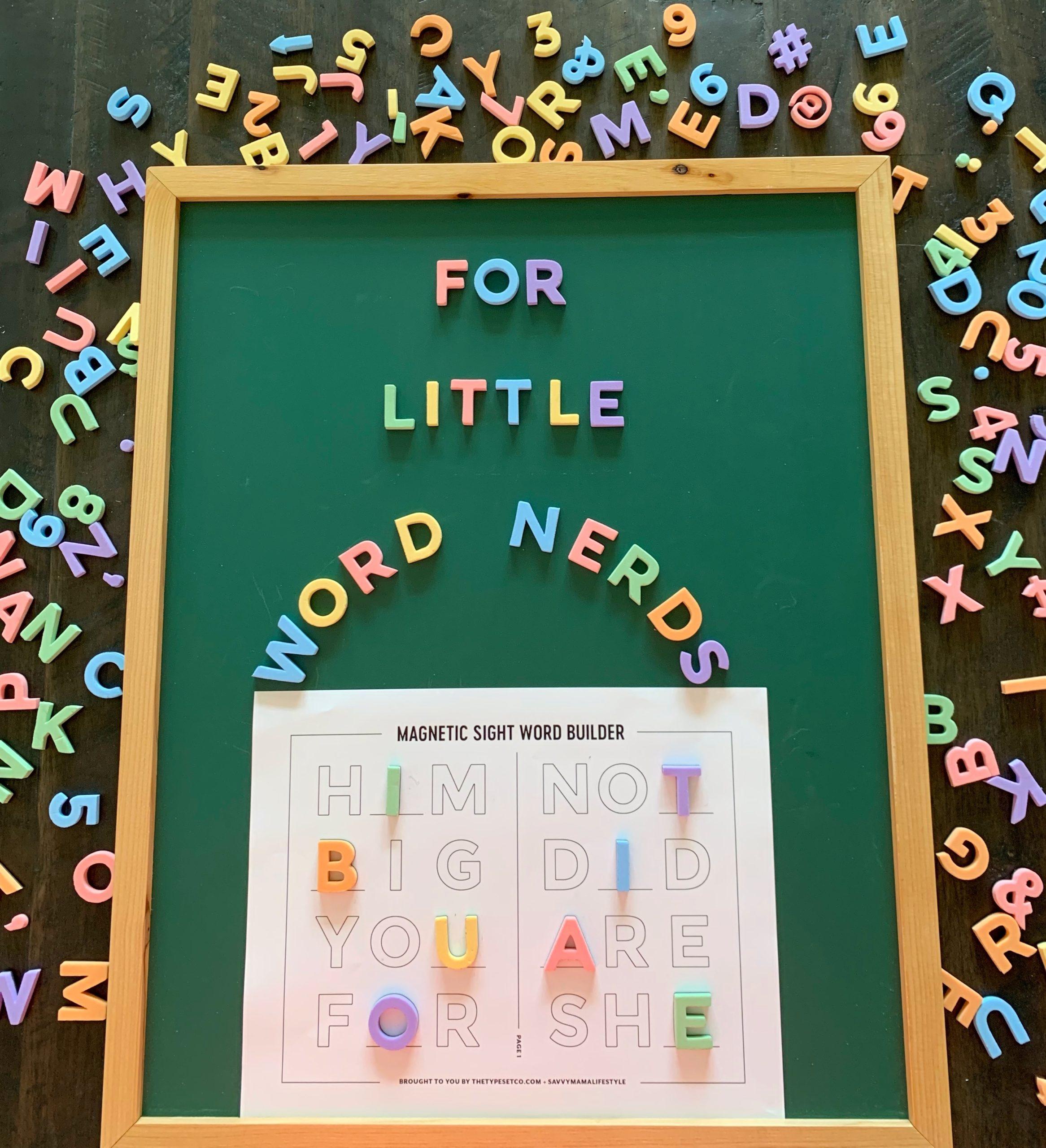 How To Make Kindergarten Sight Words More Fun Free Printable