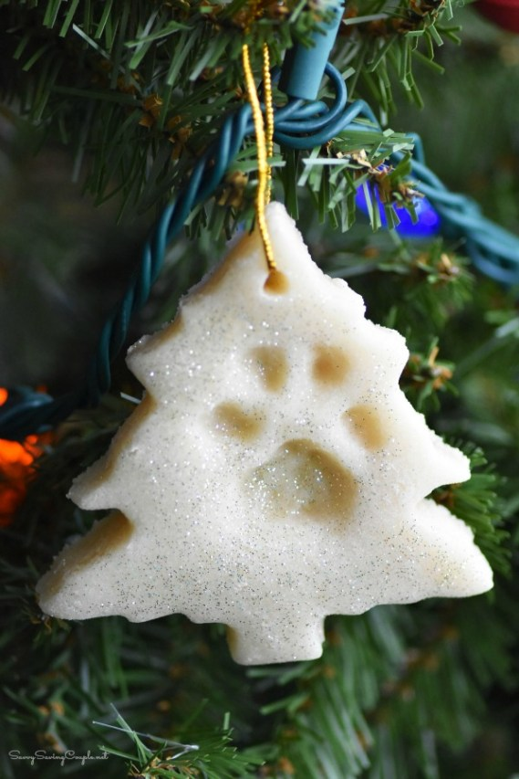 Paw print tree ornament