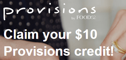 Free $10 Credit to Provisions