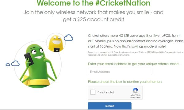 Cricket Wireless Promo Code Referral 2019: How to get $25 -
