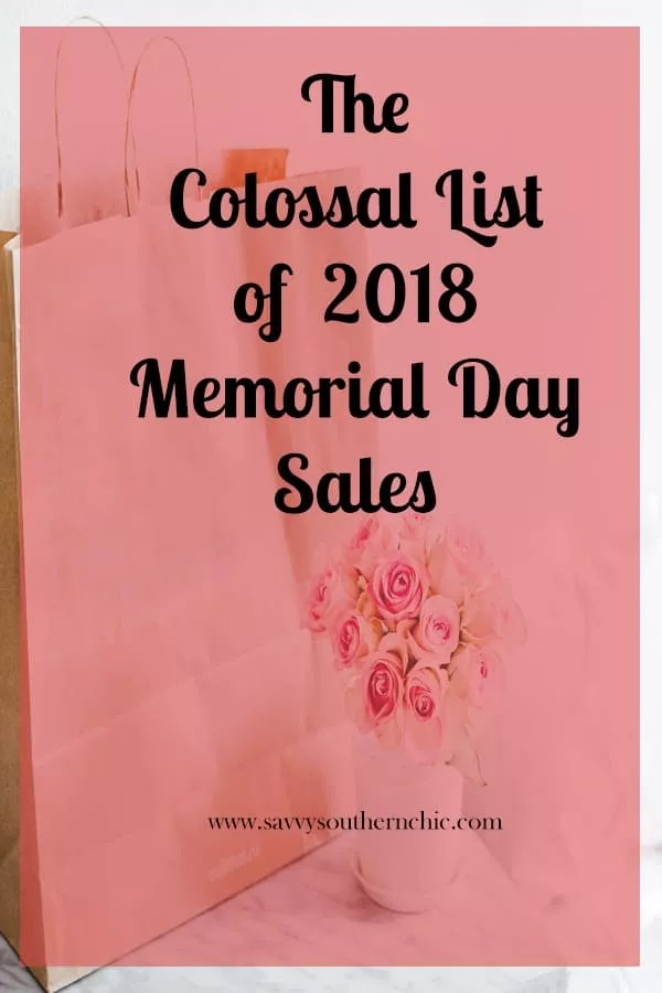 the colossal list of Memorial Day Sales