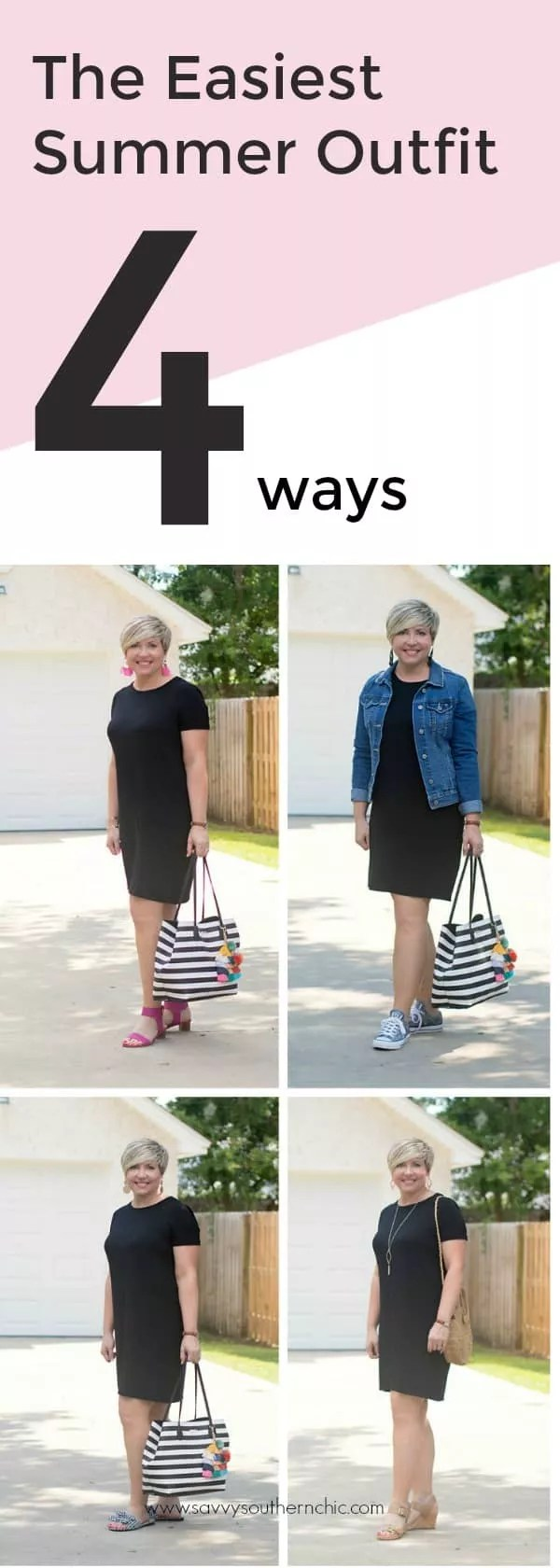 easiest summer outfit 4 ways