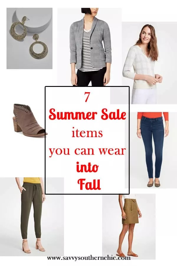 summer into fall, summer to fall transition pieces