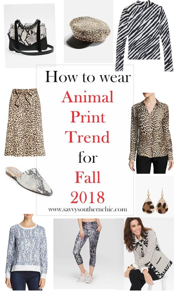 animal print trend fall 2018