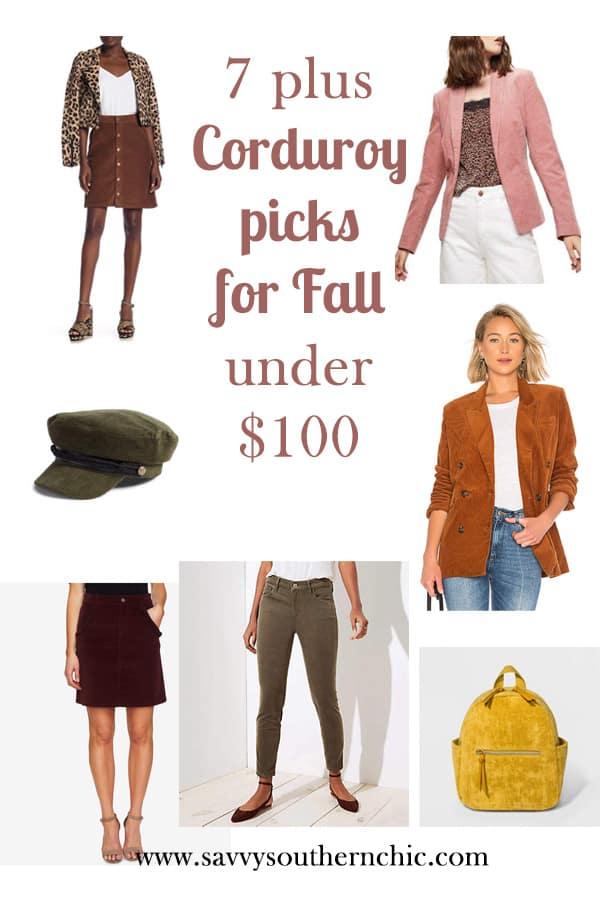 corduroy  picks for fall