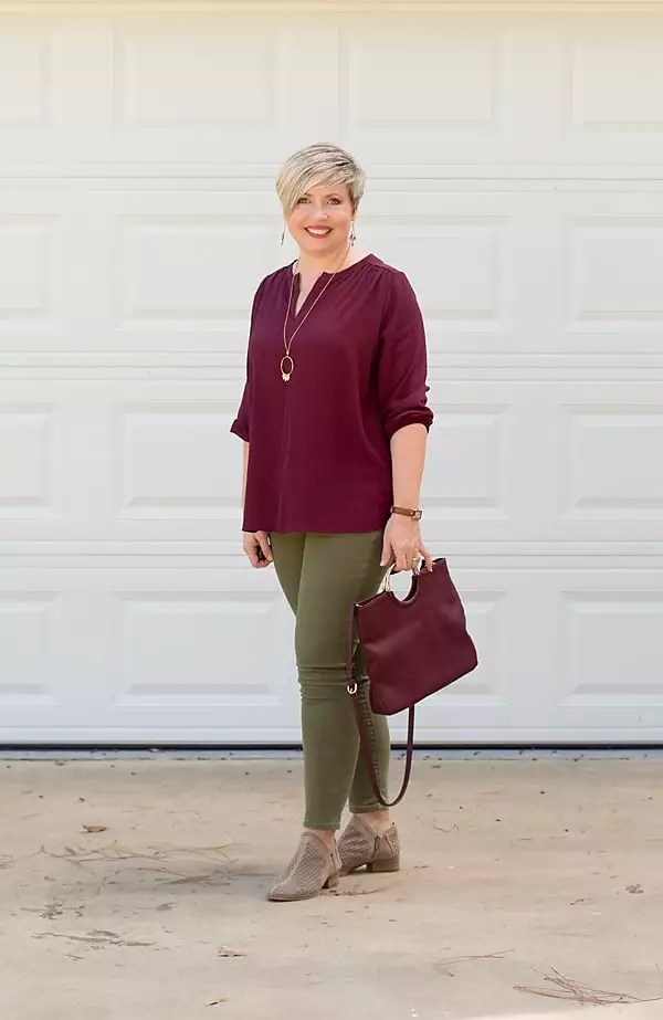 the color burgundy, fall fashion