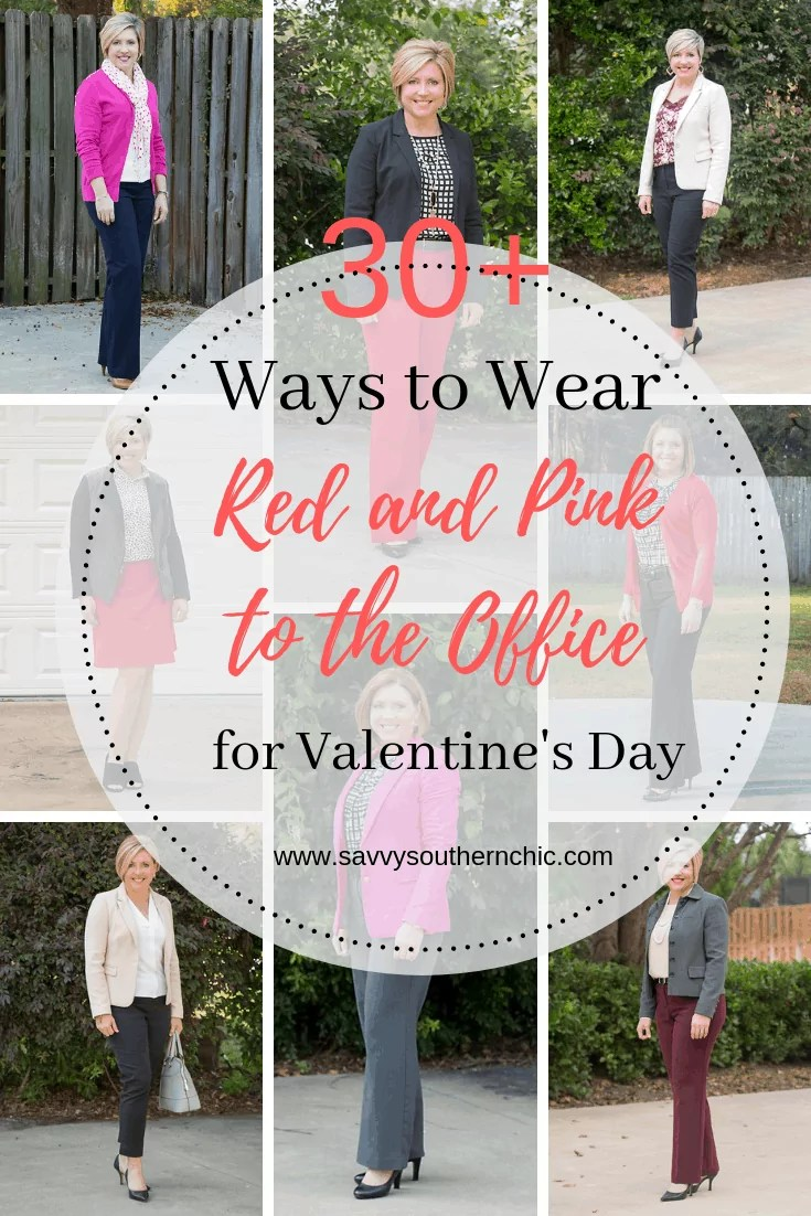 30 plus ways to wear red and pink to the office for Valentine's Day