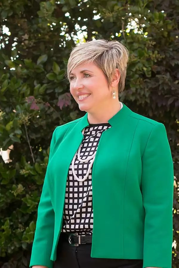 kelly green jacket for the office