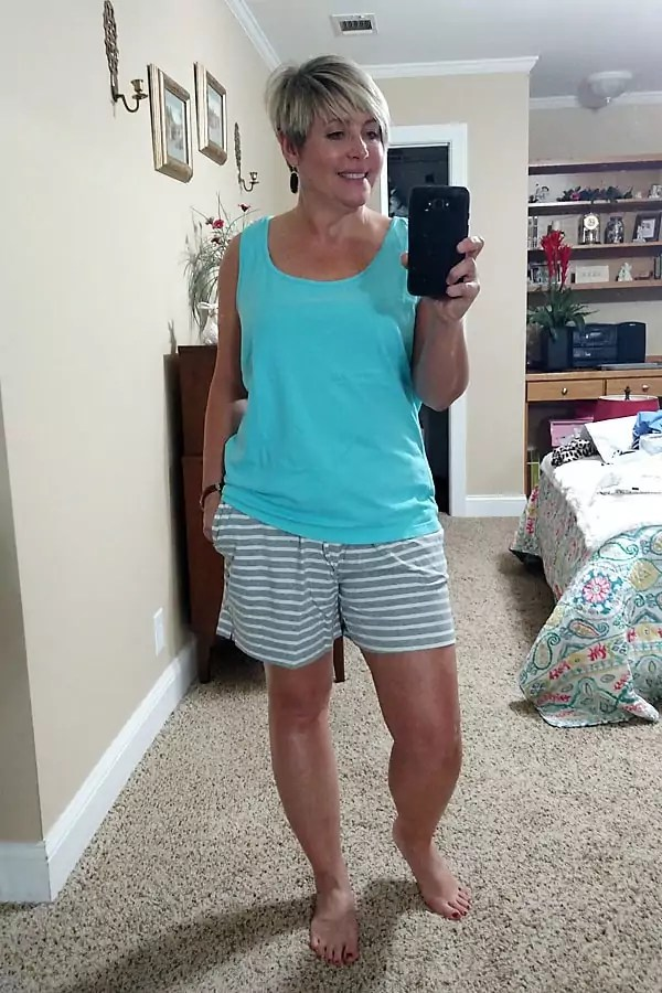 pajama shorts for wearing and lounging at home